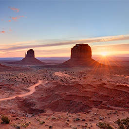 The Mittens at Sunrise, Monument Valley, AZ
