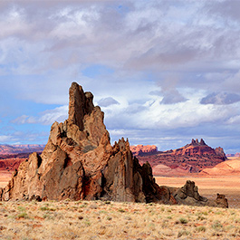 Church Rock and Agathla Peak, Kayenta, AZ